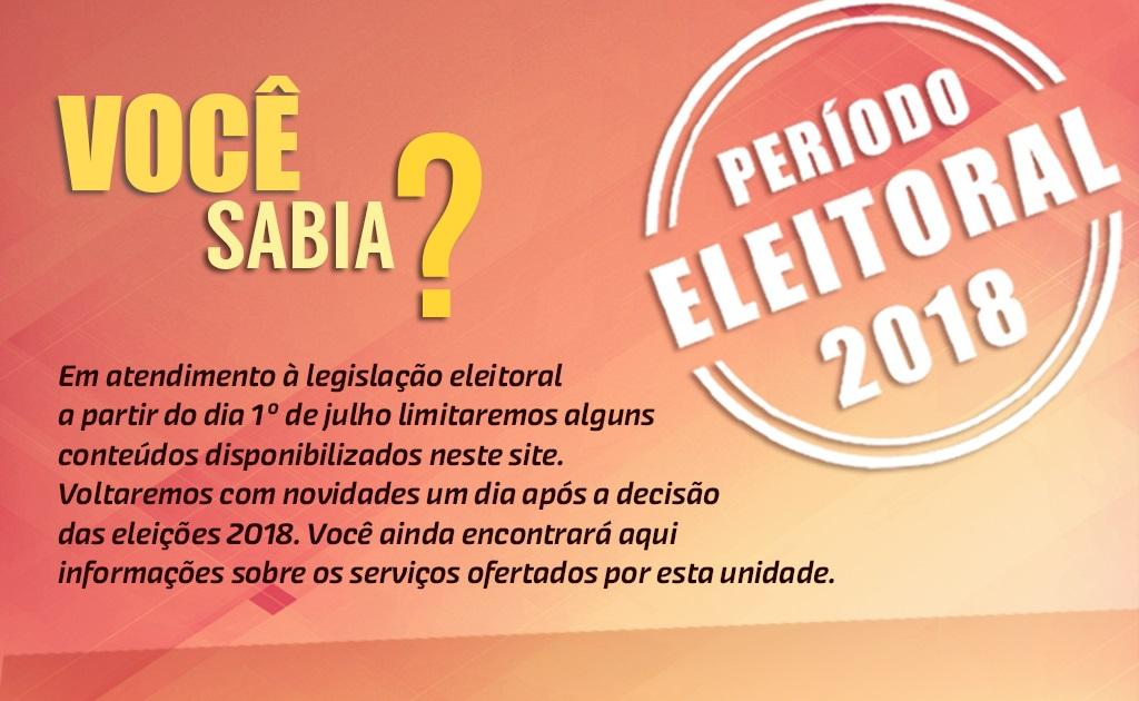 Informação sobre o período eleitoral